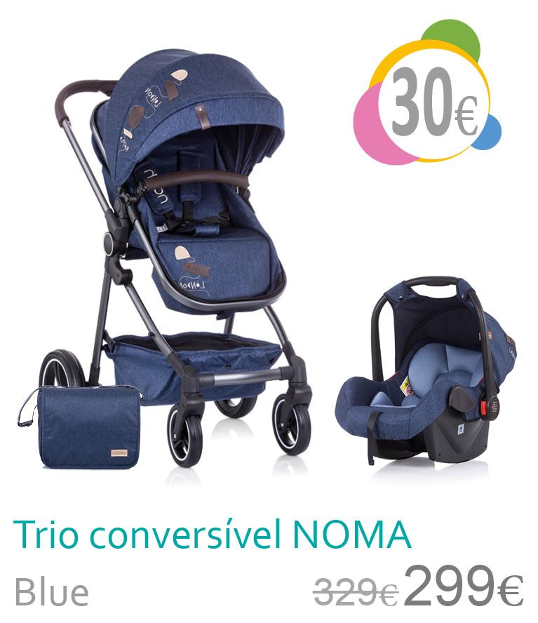 Carrinho trio conversível NOMA Blue