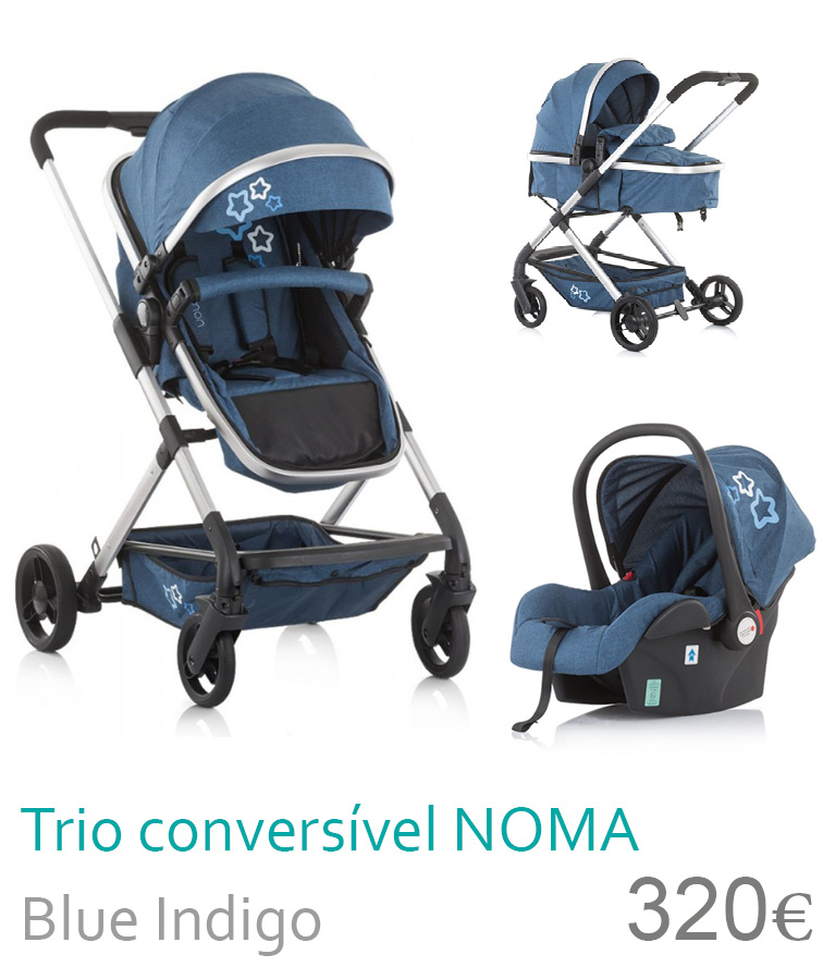 Carrinho bebé trio conversível NOMA Blue Indigo