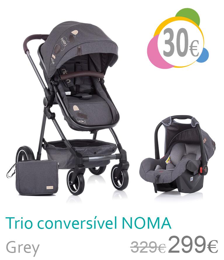 Carrinho trio conversívl NOMA Grey