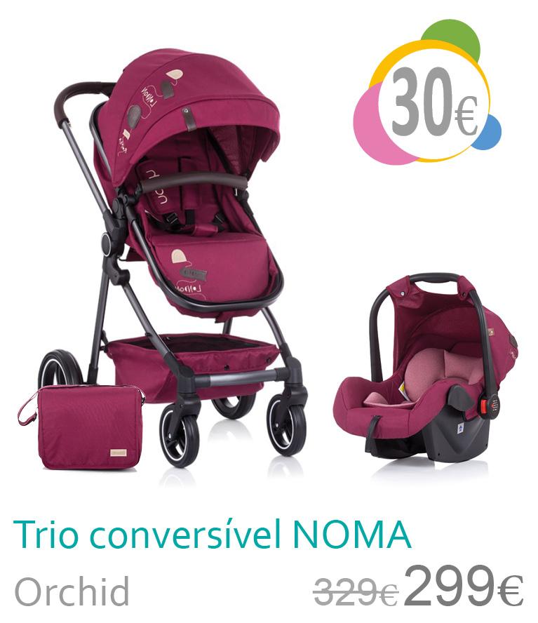 Carrinho trio conversível NOMA Orchid