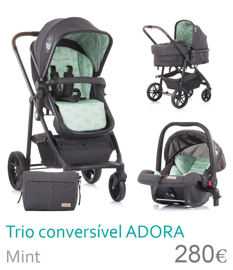 Carrinho trio conversível ADORA Mnt