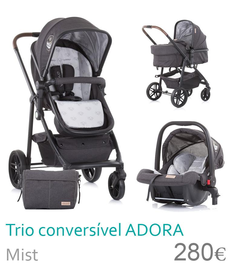 Carrinho trio conversível ADORA Mist
