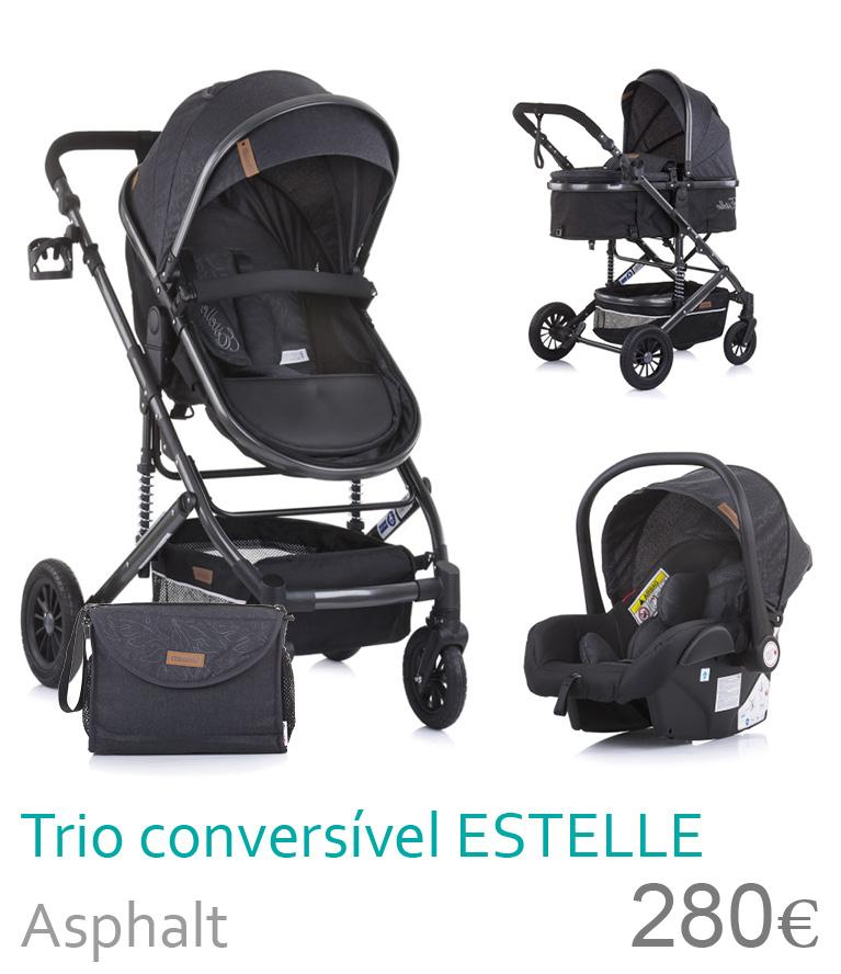 Carrinho trio conversível ESTELLE Alphalt