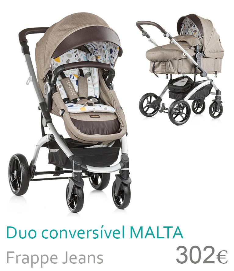 Carrinho Duo conversível MALTA Frappe Jeans