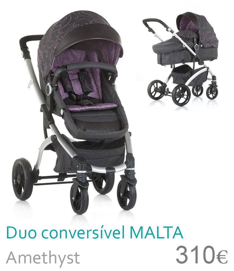 Carrinho bebé Duo convesível MALTA Amethyst