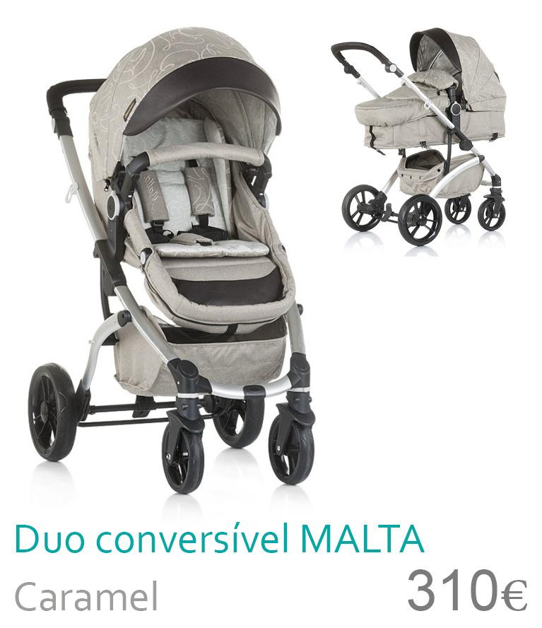 Carrinho bebé Duo Conversível MALTA Caramel