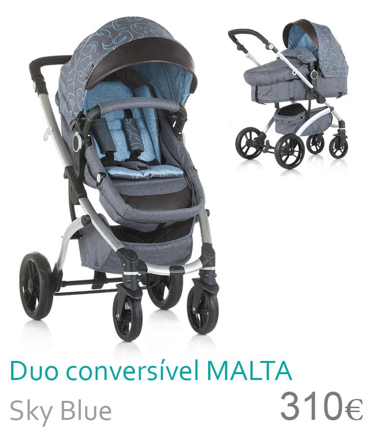 Carrinho bebé Duo Conversível MAlTA Sky Blue