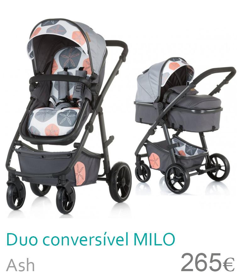 Carrinho Duo conversível MILO Ash