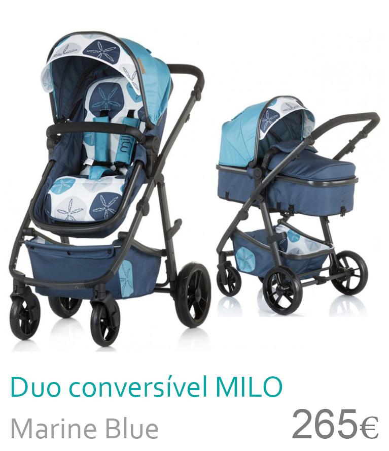 Carrinho Duo conversível MILO Marine Blue