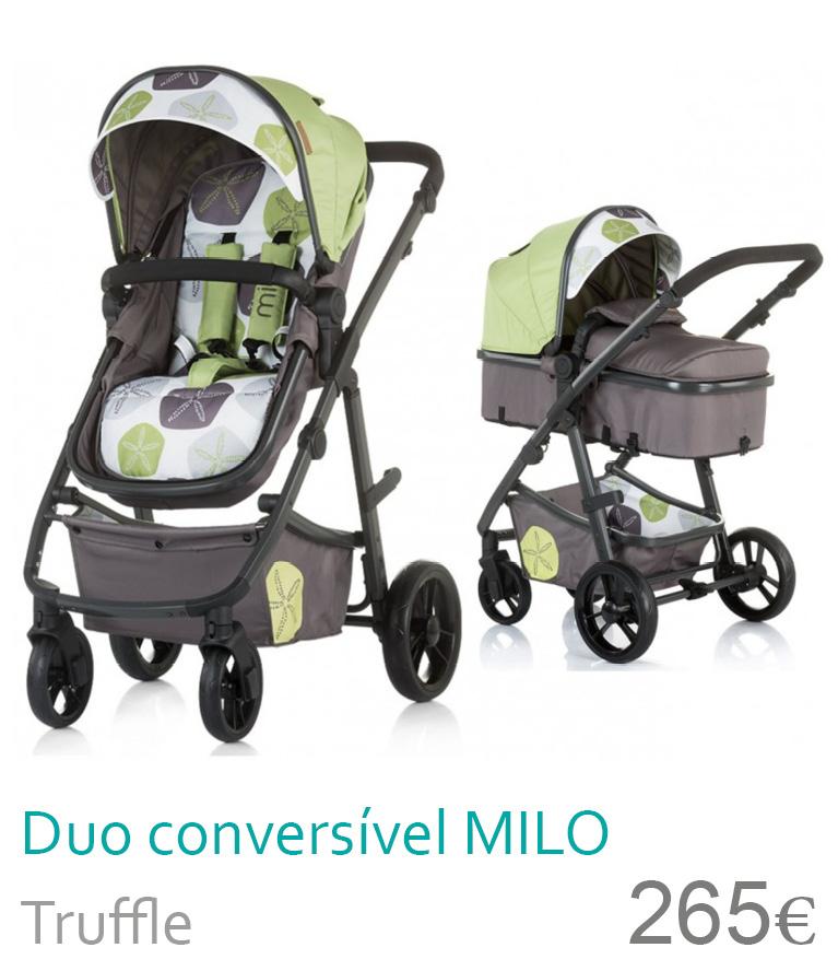 Carrinho Duo conversível MILO Truffle