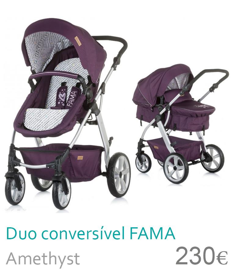 Carrinho Duo conversível FAMA Amethyst