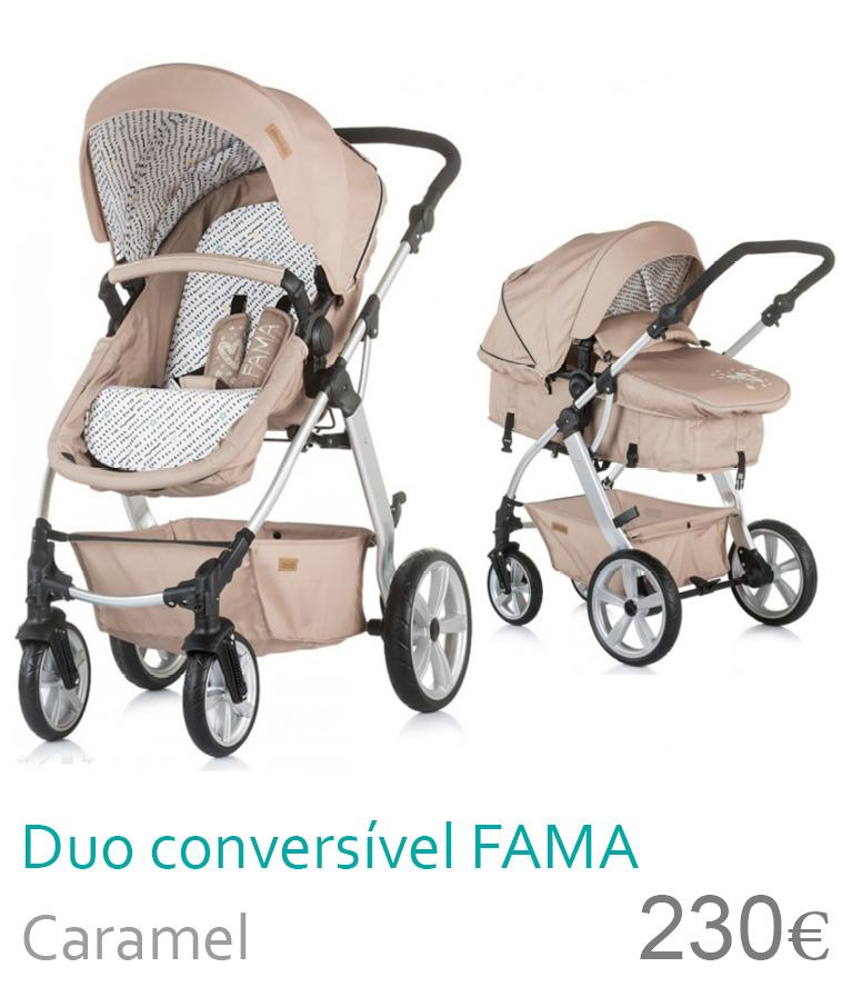 Carrinho Duo conversível FAMA Caramel