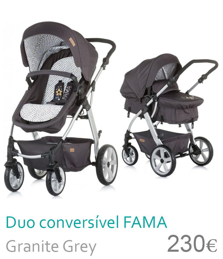 Carrinho Duo conversível FAMA Granite Grey