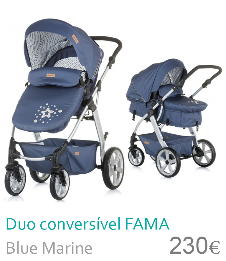 Carrinho Duo conversível FAMA Marine Blue