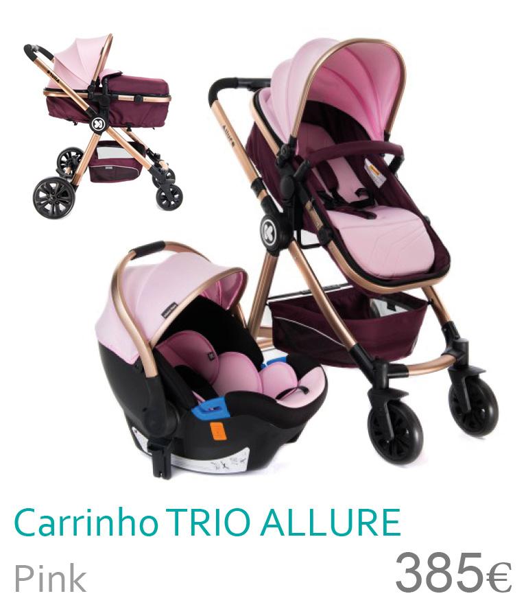 Carrinho bebé trio conversível ALLURE Pink
