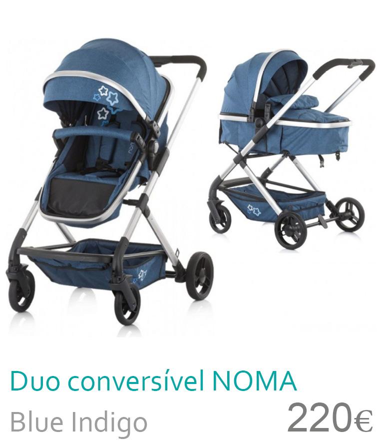 Carrinho Duo conversível NOMA Blue Indigo