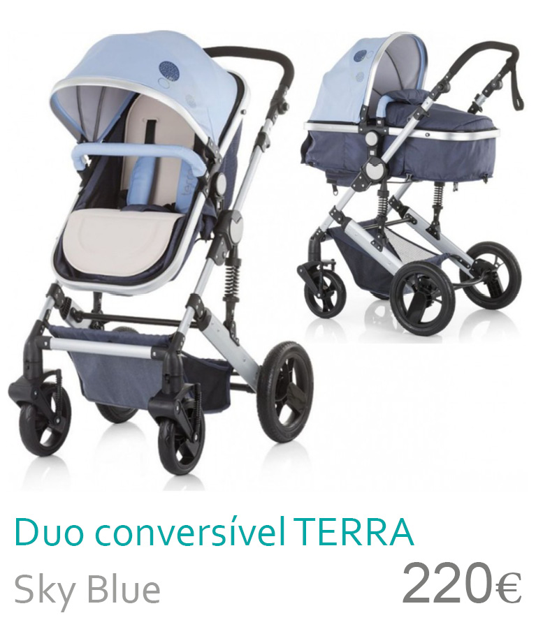 Carrinho Duo Conversível TERRA Sky Blue