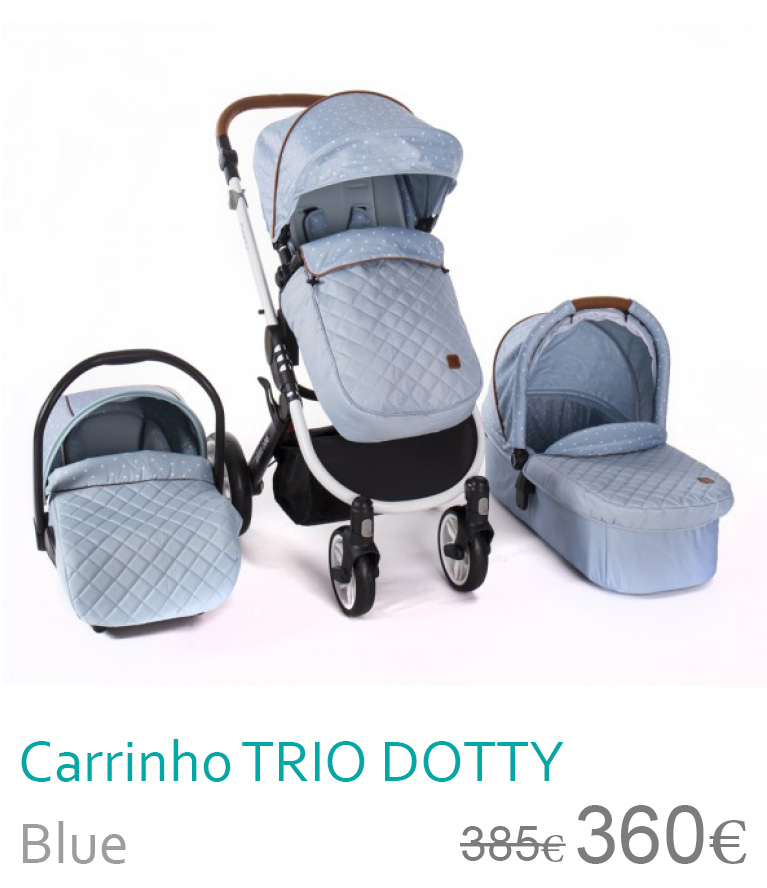 Carrinho trio DOTTY Blue