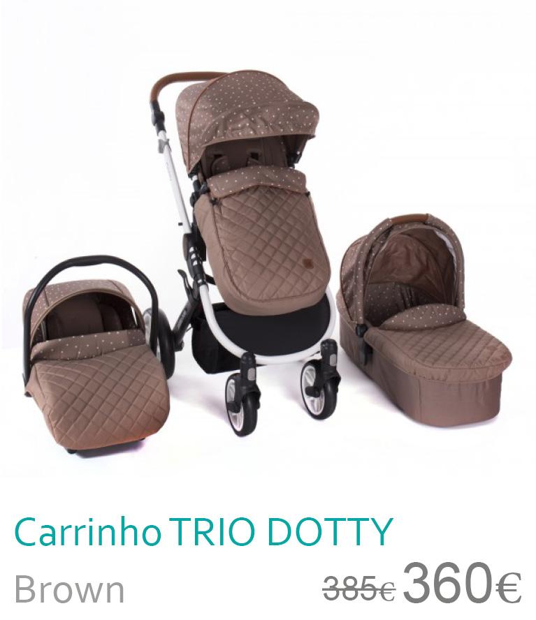 Carrinho trio Dotty Brown