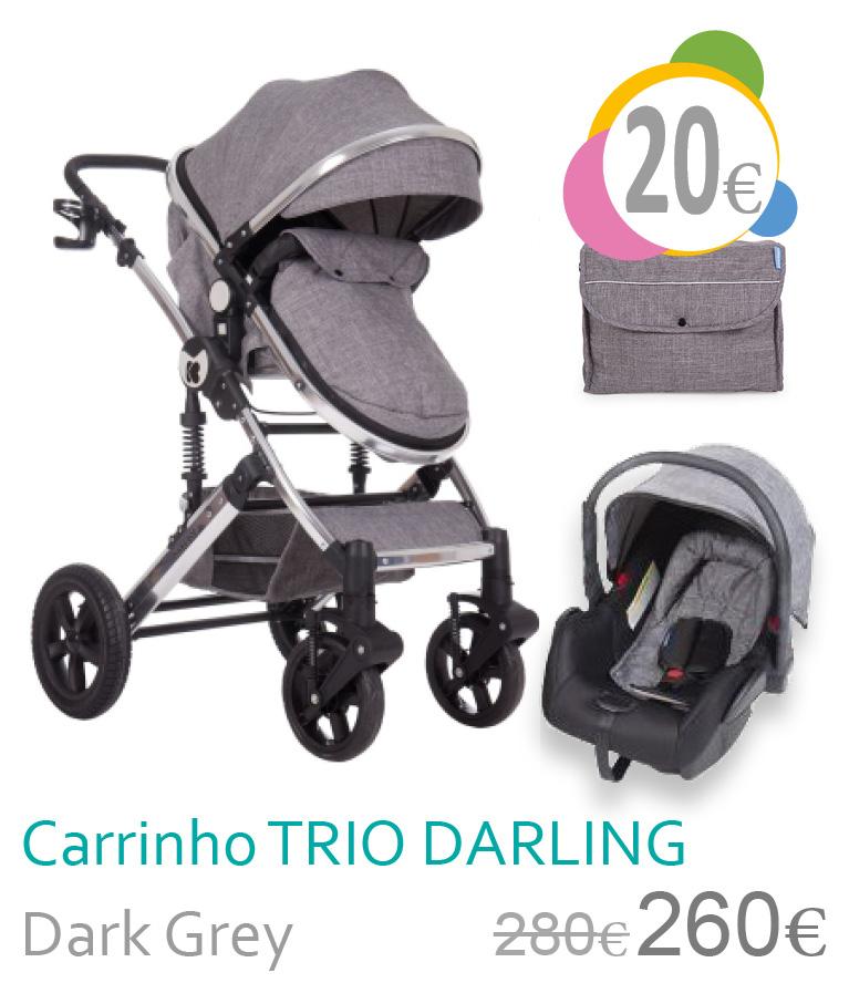 Carrinho trio conversível DARLING Dark Grey