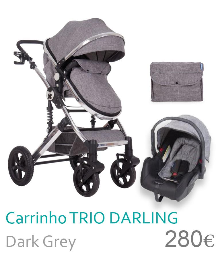 Carrinho trio conversível DARING Dark Grey