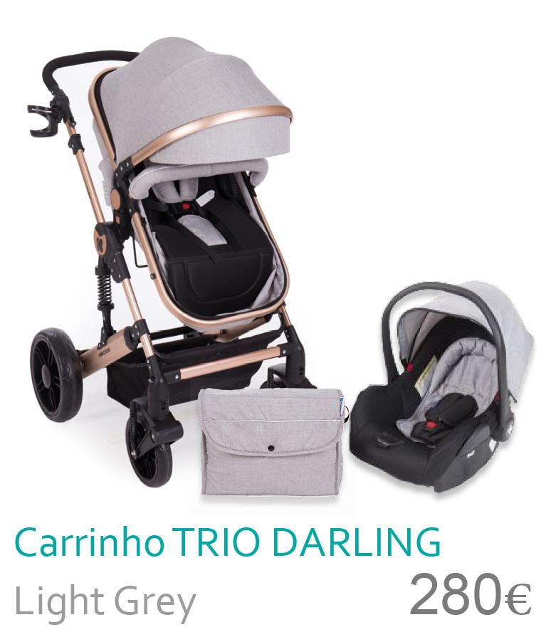 Carrinho trio conversível DARLING Light Grey