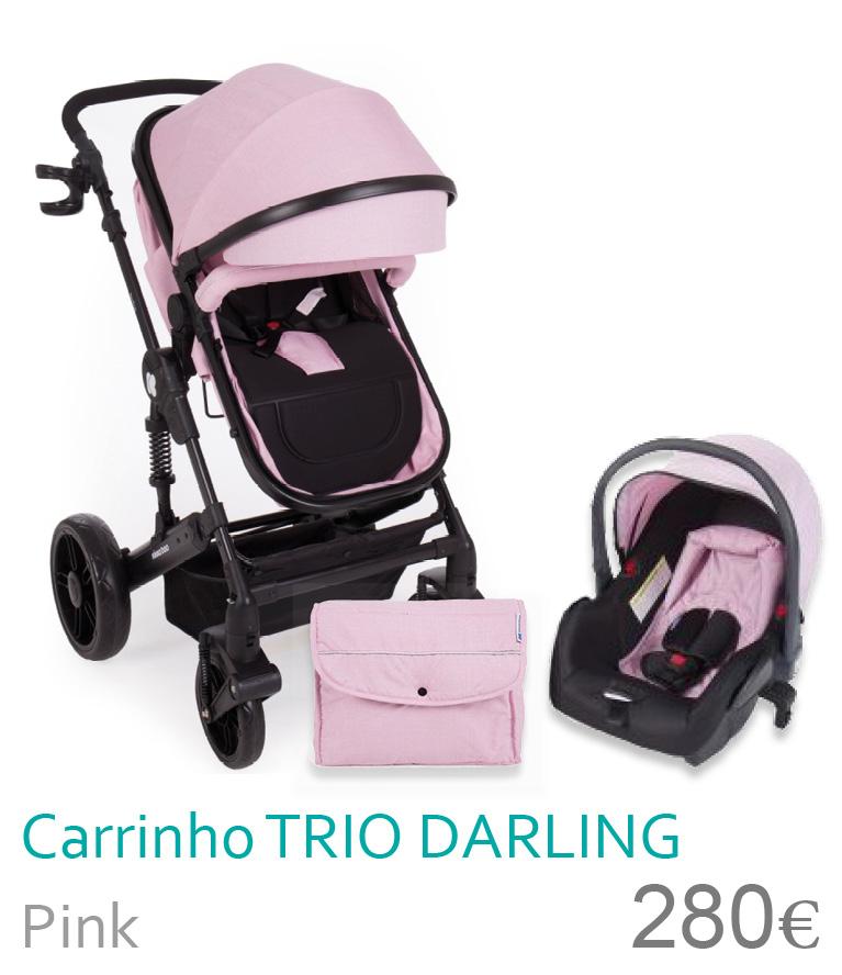 Carrinho trio conversível DARLING Pink