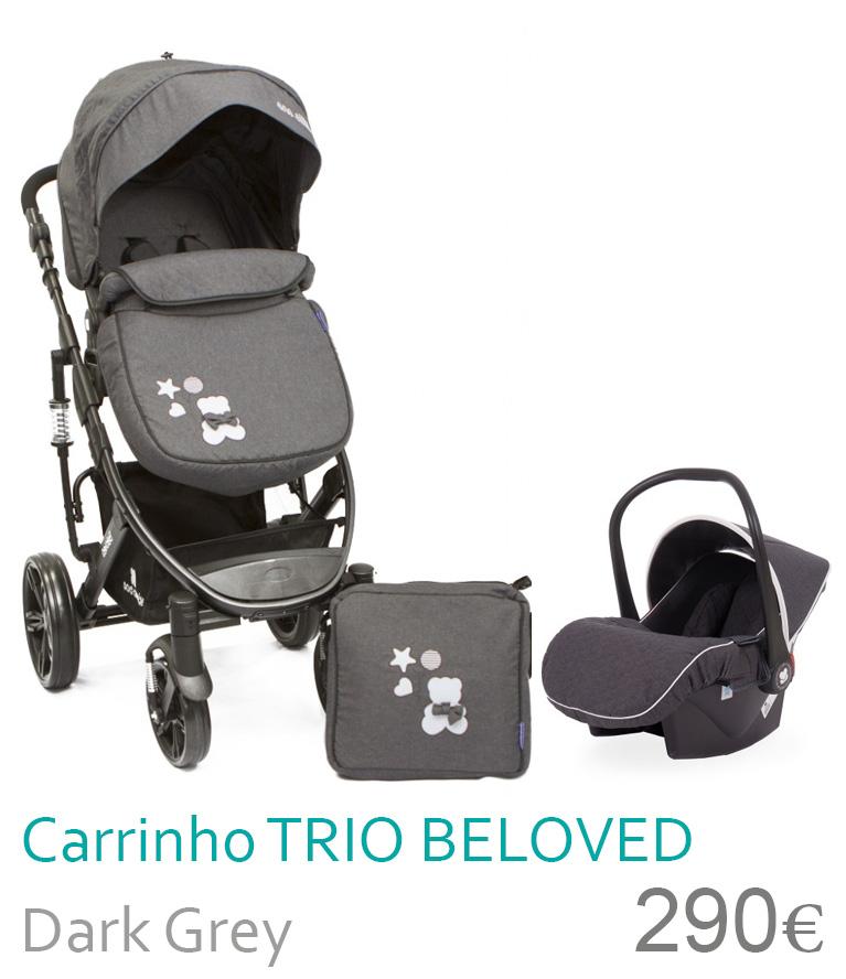 Carrinho trio conversível BELOVED Dark Grey