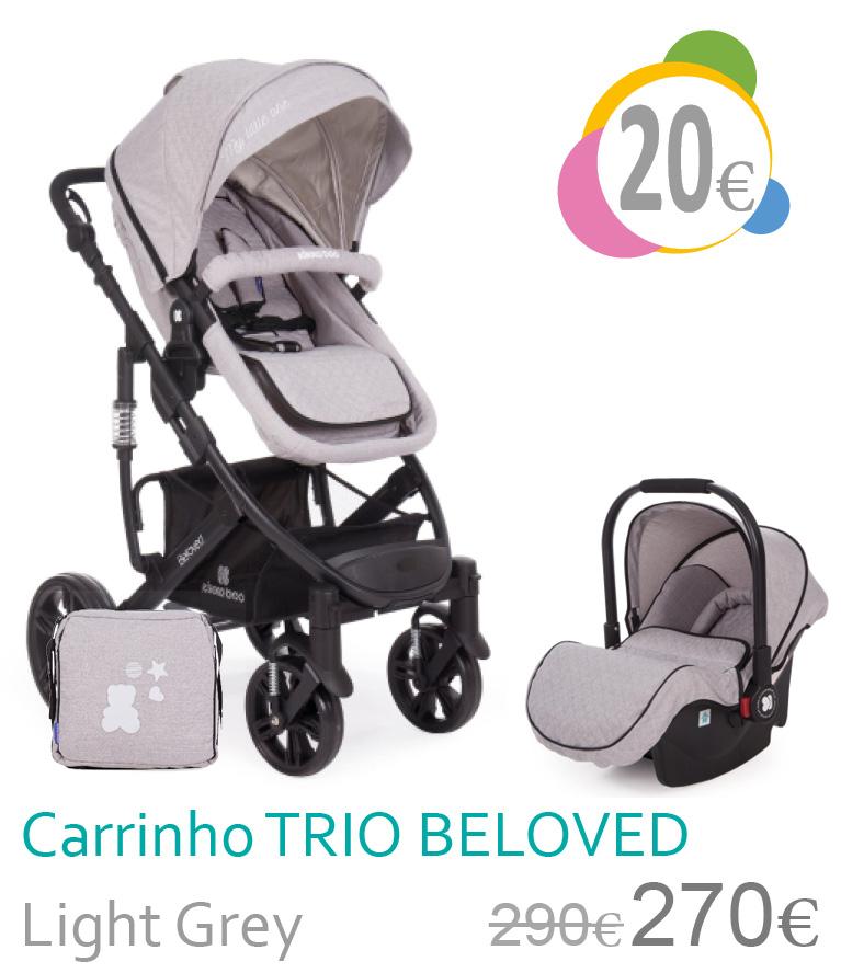 Carrinho trio conversível BALOVED Light Grey