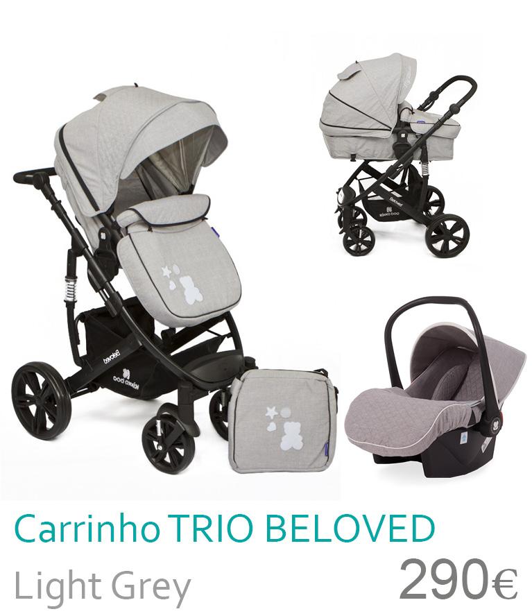 Carrinho trio conversível BELOVED Light Grey