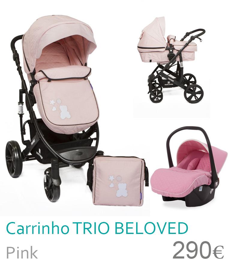 Carrinho trio conversível BELOVED Pink