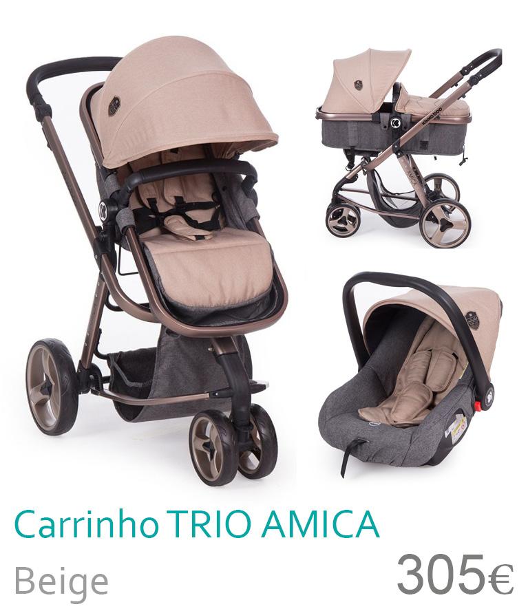 Carrinho trio conversível AMICA Beige