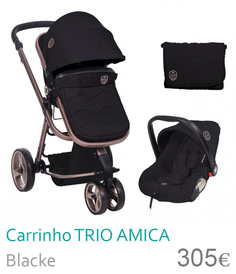 Carrinho tri conversível AMICA Black