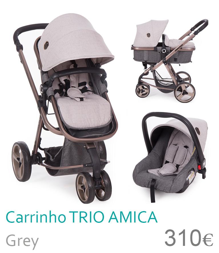 Carrinho trio conversível AMICA Grey