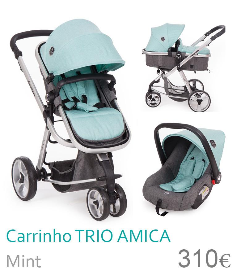 Carrinho trio conversível AMICA Mint