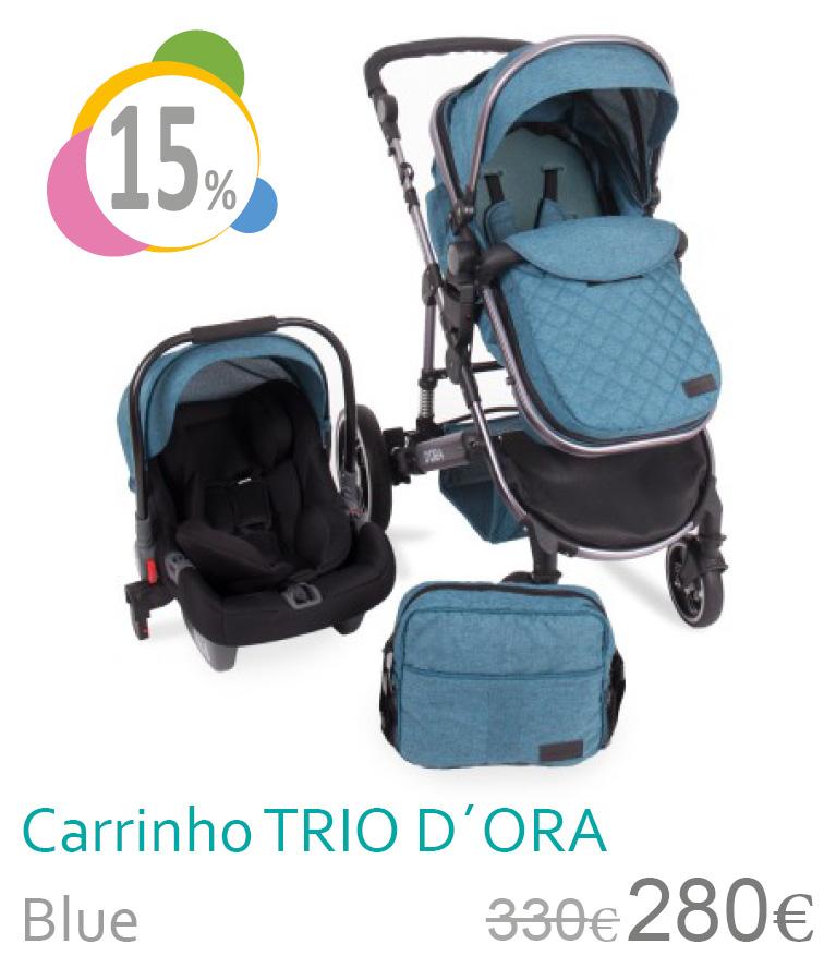 Carrinho trio conversível D´ORA Blue