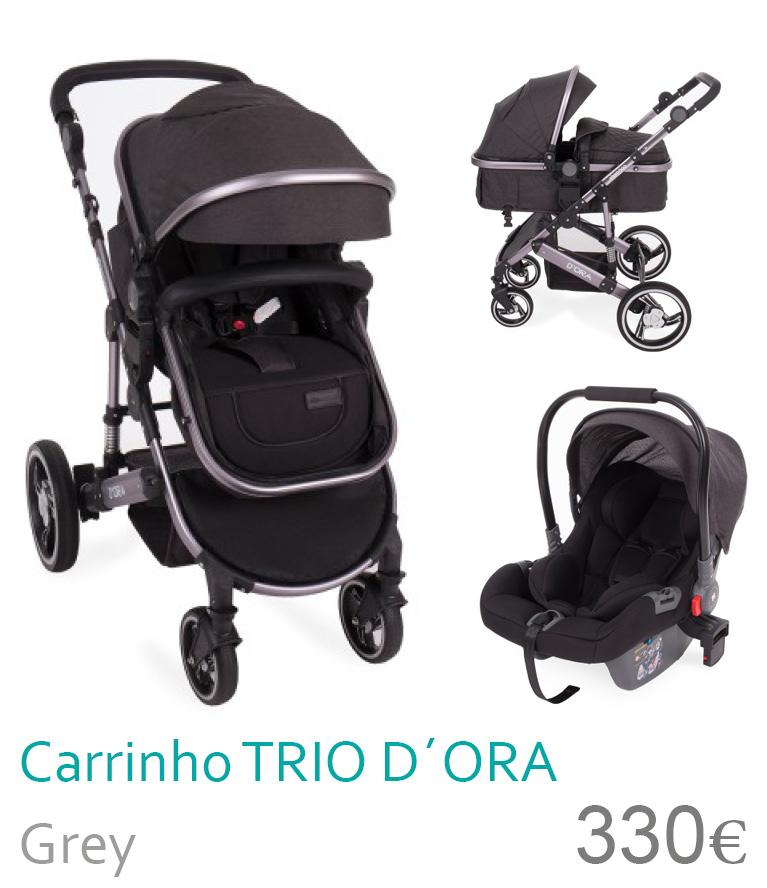 Carrinho trio conversñivel D`ORA Grey