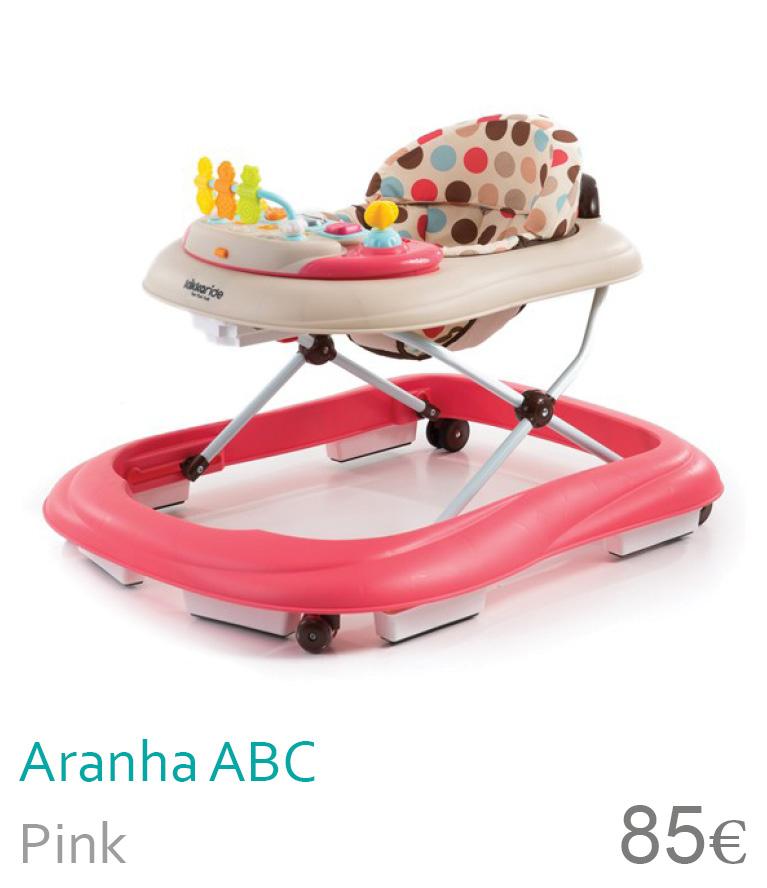 aranha ABC pink