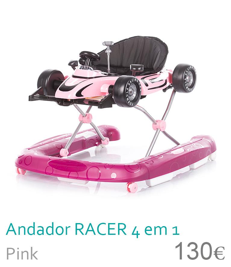 Andador racer 4 en 1 pink