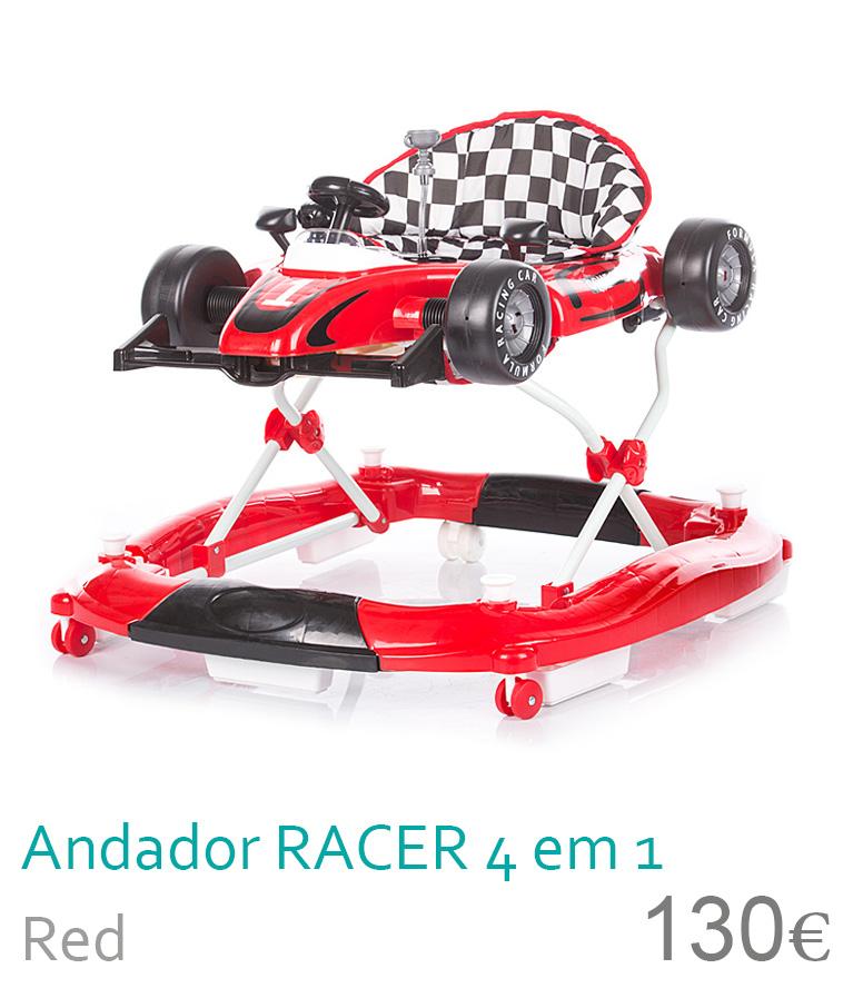aranha racer 4 em 1 red