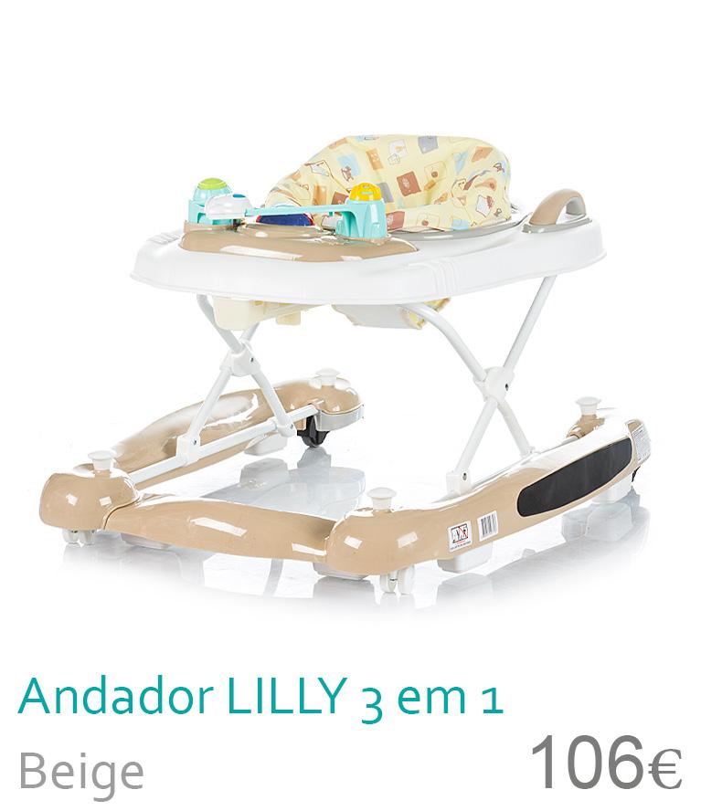 Andador LILLY 3 em 1 Beige