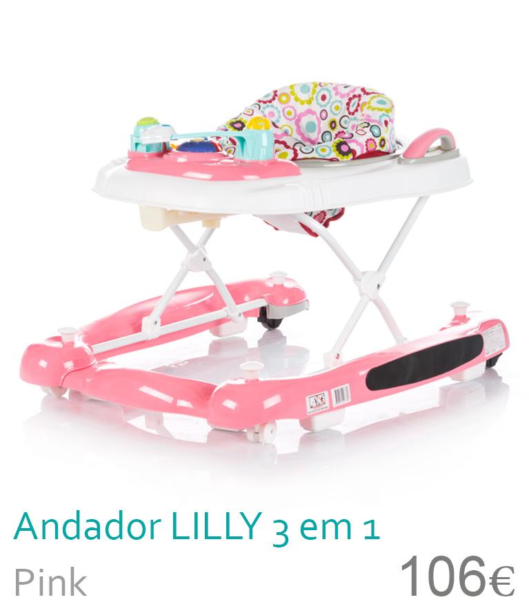 Andador LILLY 3 em 1 Pink