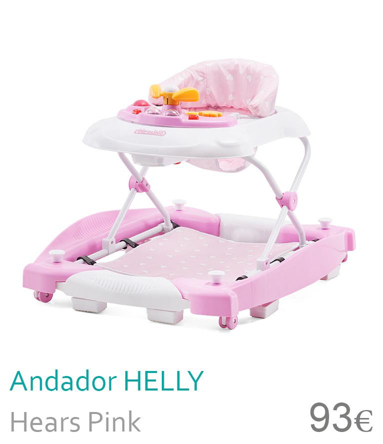 Andador HELLY Hearts Pink