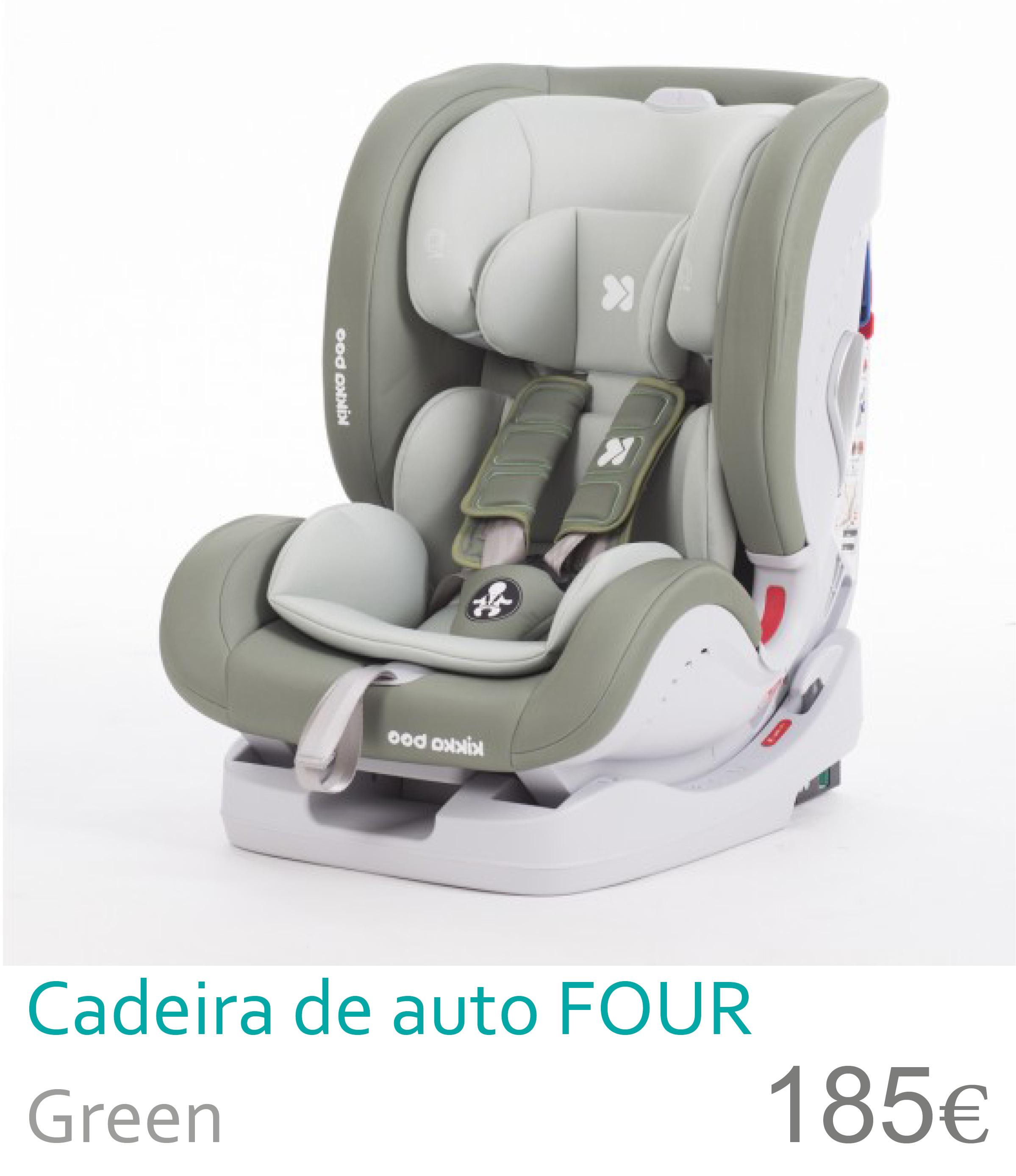 Cadeira de auto grupo 0+/1/2/3 FOUR Green