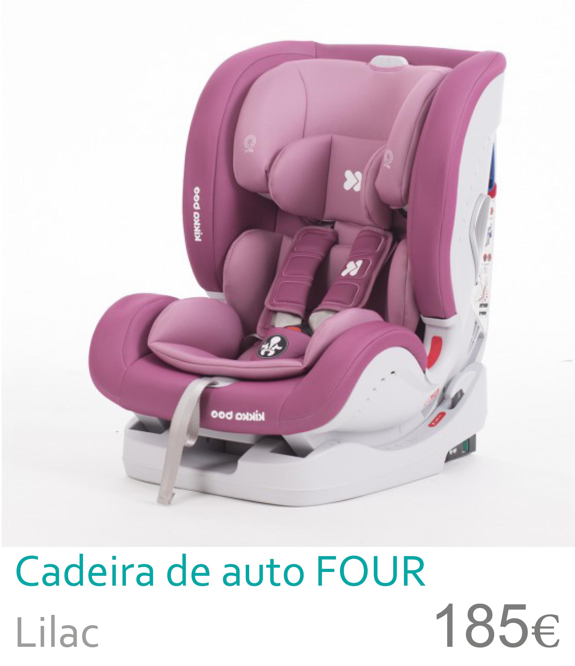 Cadeira de auto grupo 0+/1/2/3 FOUR Lilac