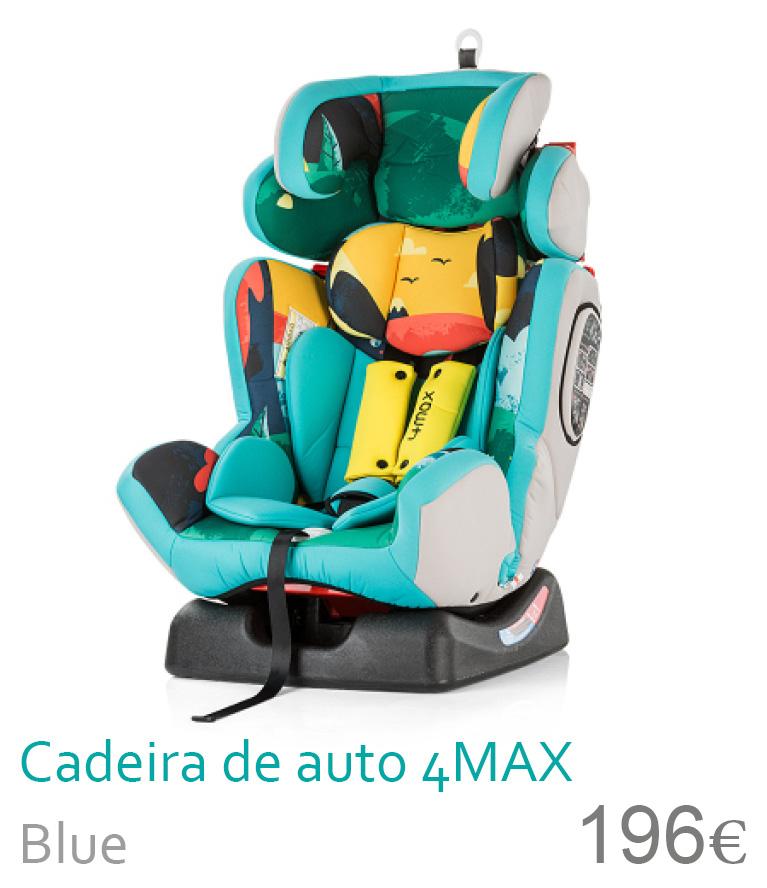 Cadeira de auto grupo 0-1-2-3 4MAX Blue
