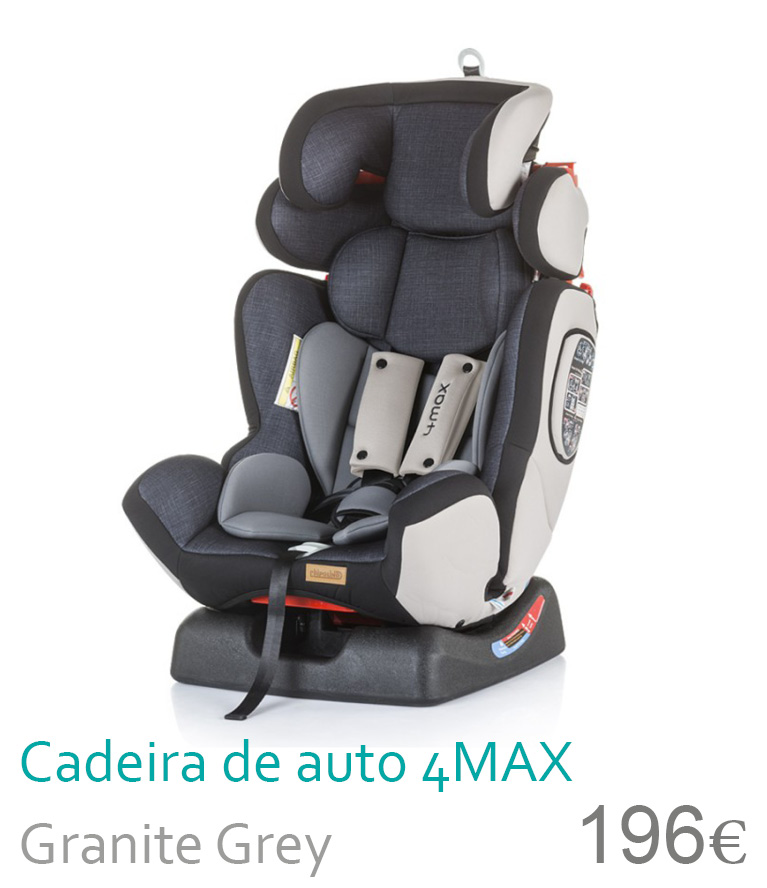 Cadeira de auto grupo 0-1-2-3 4MAX Granite Grey