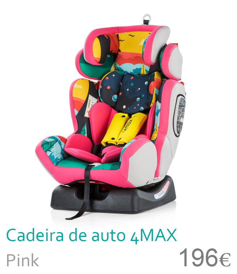 Cadeira de auto grupo 0-1-2-3 4MAX Pink