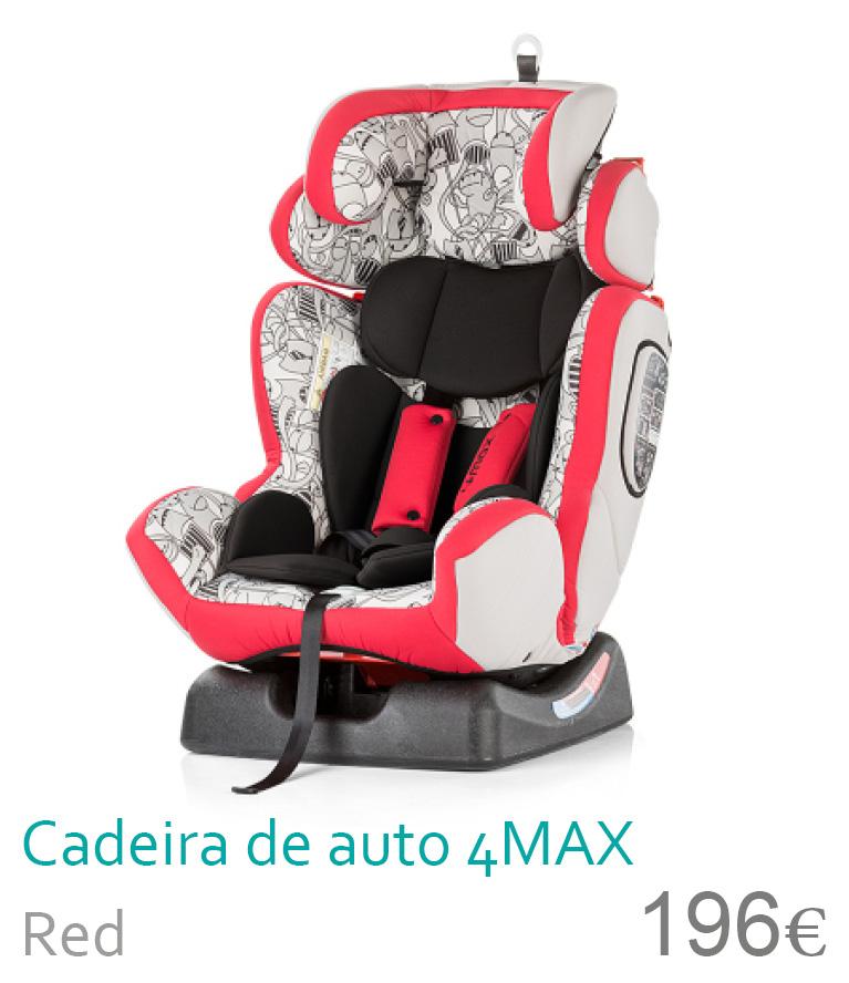 Cadeira de auto grupo 0-1-2-3 4NAX Red