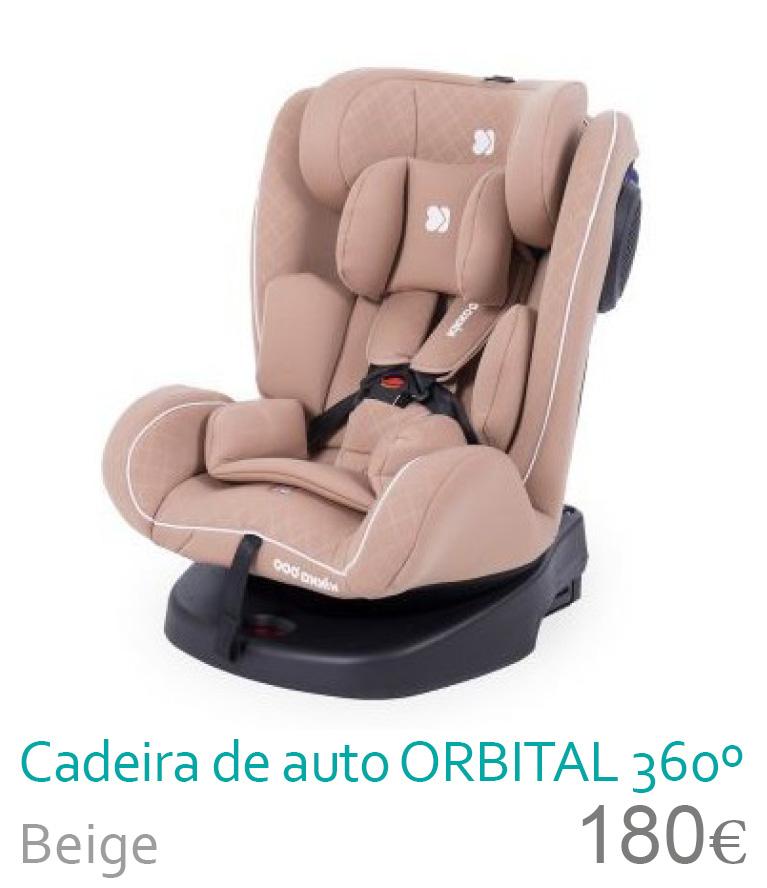 Cadeira de auoto grupo 0/1/2/3 ORBITAL 360 Beige